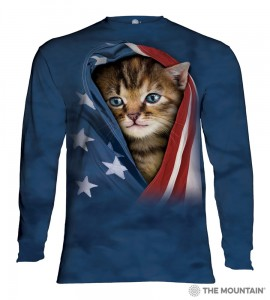 Patriotic Kitten - kotek - T-shirt z długim rękawem The Mountain