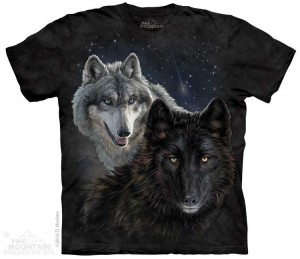 Star Wolves - wilki - koszulka unisex The Mountain