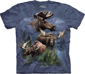 Moose Collage - łosie - koszulka unisex The Mountain