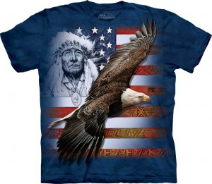 Spirit of America -  orzeł - T-shirt The Mountain Roz. XL