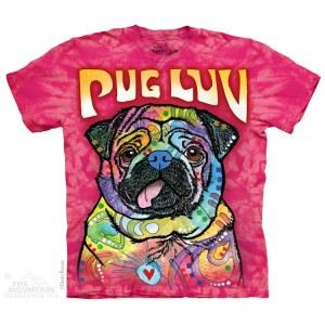 Pug Luv - mops - koszulka unisex The Mountain