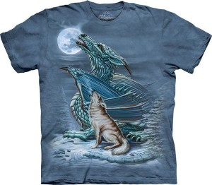 Dragon Wolf Moon - koszulka unisex The Mountain