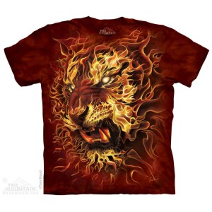 Fire Tiger - tygrys - koszulka unisex The Mountain