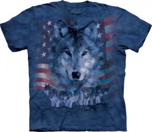 Patriotic Wolfpack - wilki - T-shirt The Mountain