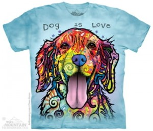 Dogs Is Love - pies - koszulka unisex The Mountain