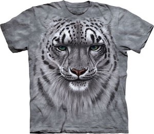Snow Leopard Portrait - koszulka unisex The Mountain