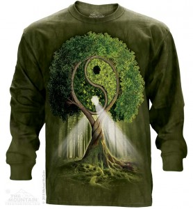 Yin Yang Tree - drzewo życia - T-shirt z długim ręk. The Mountain. Roz. 3XL