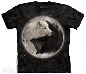 Yin Yang Wolves - wilki - koszulka unisex The Mountain