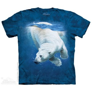 Polar Bear Dive - miś polarny - koszulka unisex The Mountain