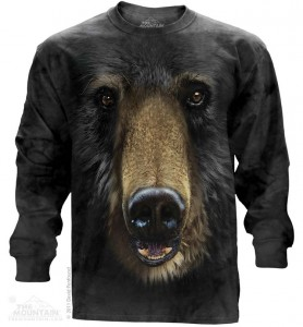 Black Bear Face - T-shirt z długim ręk. The Mountain. Roz. S