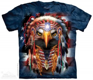 Native Patriotic Eagle - koszulka unisex The Mountain