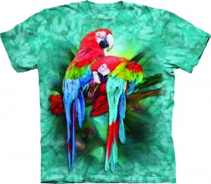 Macaw Mates - papugi - koszulka unisex The Mountain