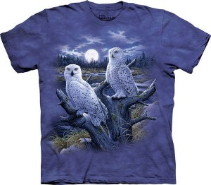 Snowy Owls - sowy - koszulka unisex The Mountain
