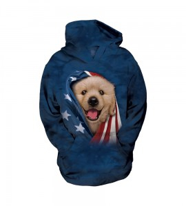 Patriotic Golden Pup - pies - dla dzieci bluza z kapturem The Mountain