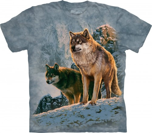 Wolf Couple Sunset - koszulka The Mountain z wilkami
