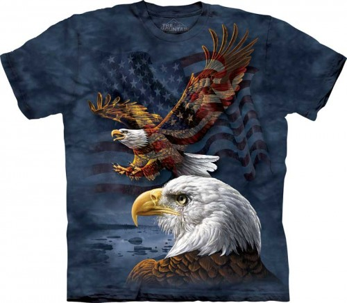 Eagle Flag Collage - T-shirt The Mountain z orłem