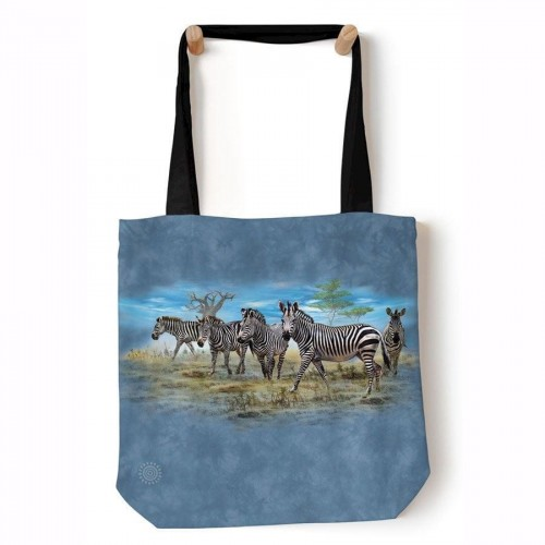 Zebra Gathering - torba shopper The Mountain