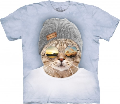 Cool Hipster Cat - koszulka The Mountain