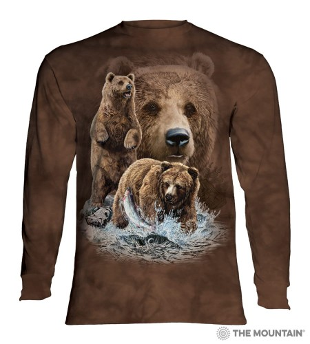 Find 10 Brown Bears - T-shirt z długim rękawem The Mountain