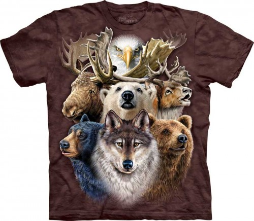 Northern Wildlife Collage - T-shirt The Mountain