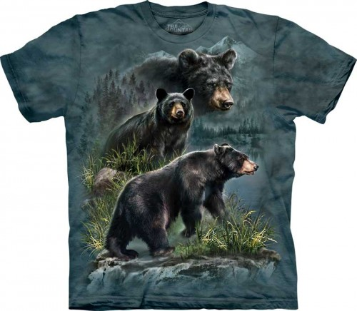 Three Black Bears - koszulka The Mountain