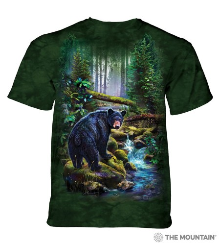 Black Bear Forest - koszulka unisex The Mountain