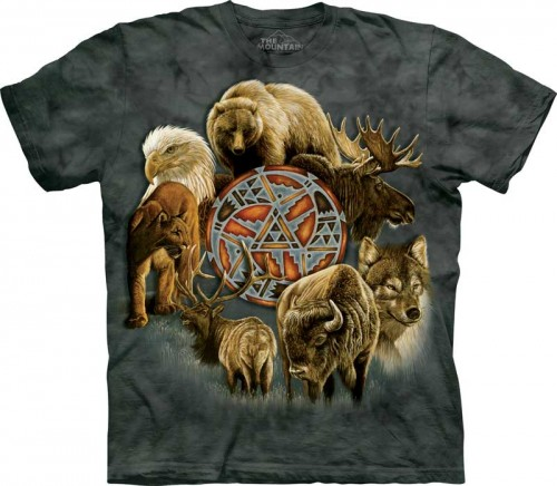 Animal Spirit Circle - T-shirt The Mountain