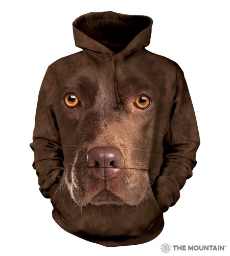 Chocolate Lab Face - bluza z kapturem The Mountain