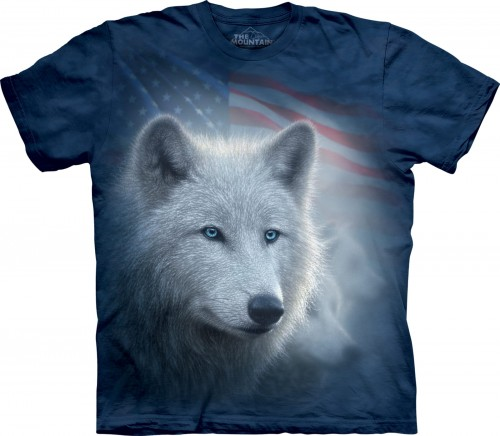 Patriotic White Wolf - koszulka The Mountain z wilkami