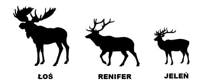 Rogate Symbole świąt Renifer Jeleń I łoś Karoka